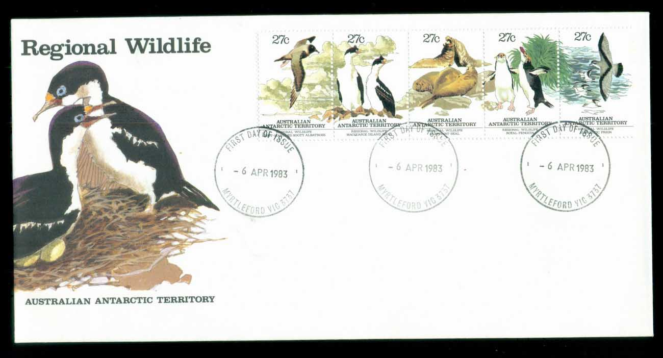 AAT 1983 Regional Wildlife Str 5, Sydney Philatelic Sales FDC lot79791