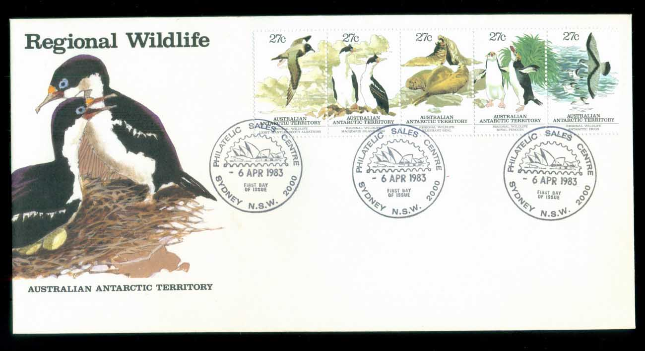 AAT 1983 Regional Wildlife Str 5, Myrtleford Vic FDC lot79792