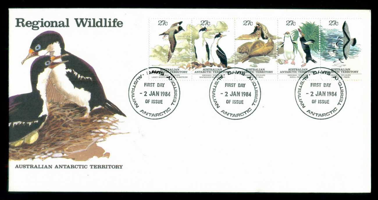 AAT 1983 Regional Wildlife Str 5, Davis FDC lot79794