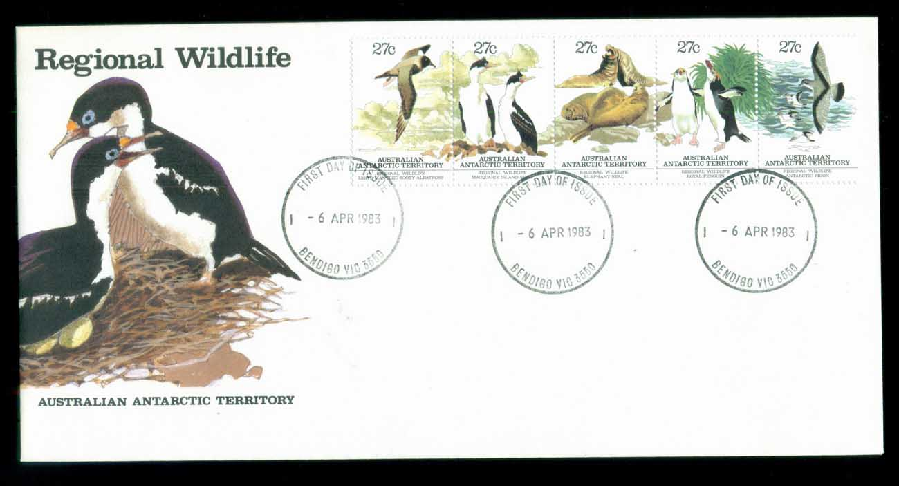 AAT 1983 Regional Wildlife Str 5, Bendigo FDC lot79796