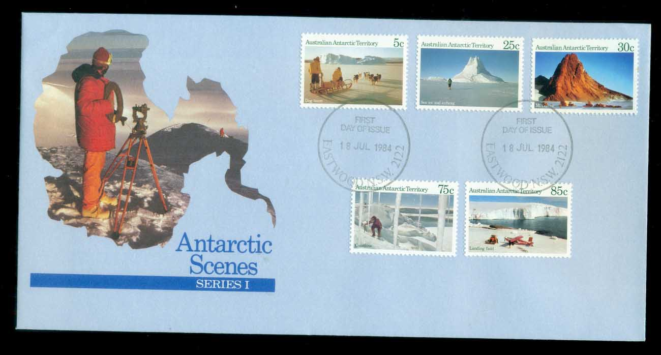 AAT 1984 Antarctic Scenes I , Eastwood NSW FDC lot79808