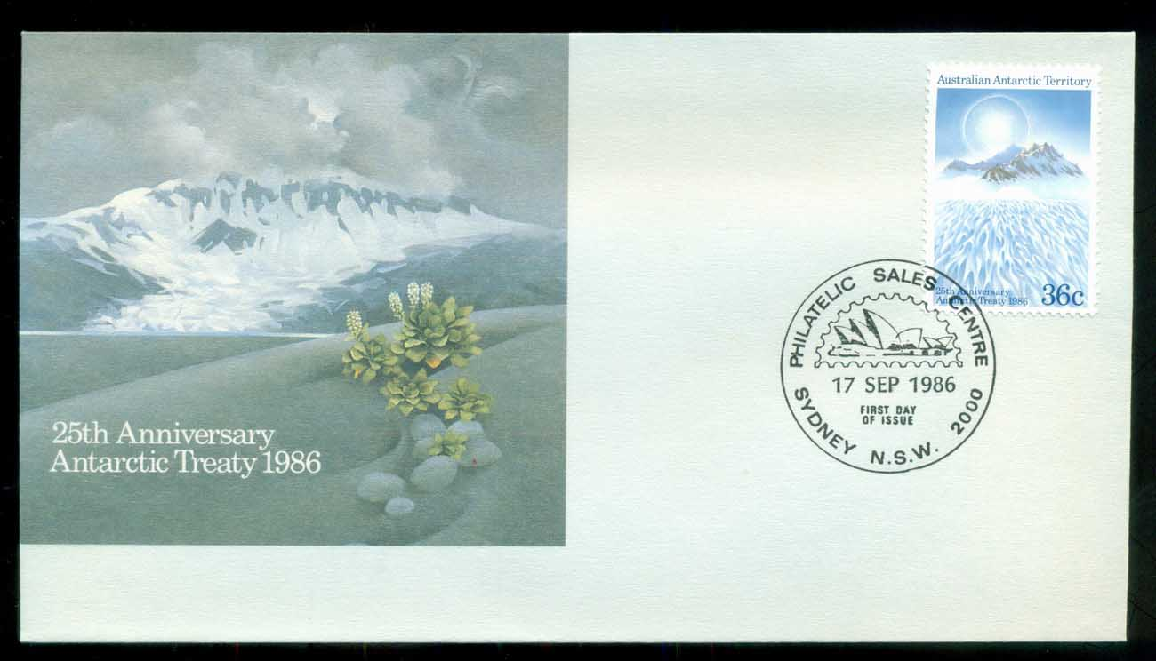 AAT 1986 Treaty, Sydney Philatelic Sales FDC lot79817