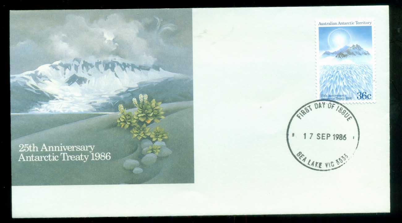 AAT 1986 Treaty, Sea Lake Vic FDC lot79822