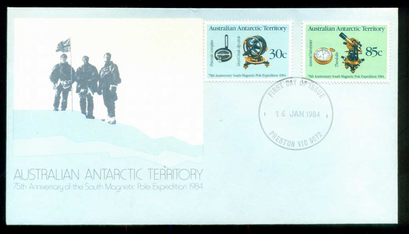 AAT 1984 Magnetic Pole, Preston Vic FDC lot79837