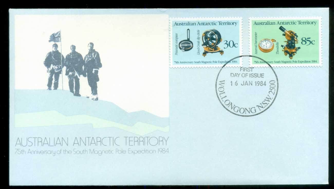 AAT 1984 Magnetic Pole, Woolongong NSW FDC lot79838