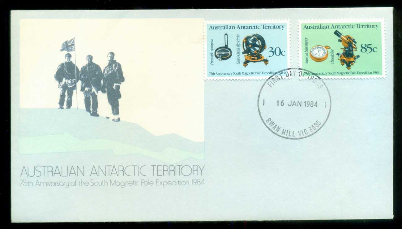 AAT 1984 Magnetic Pole, Swan Hill Vic FDC lot79842