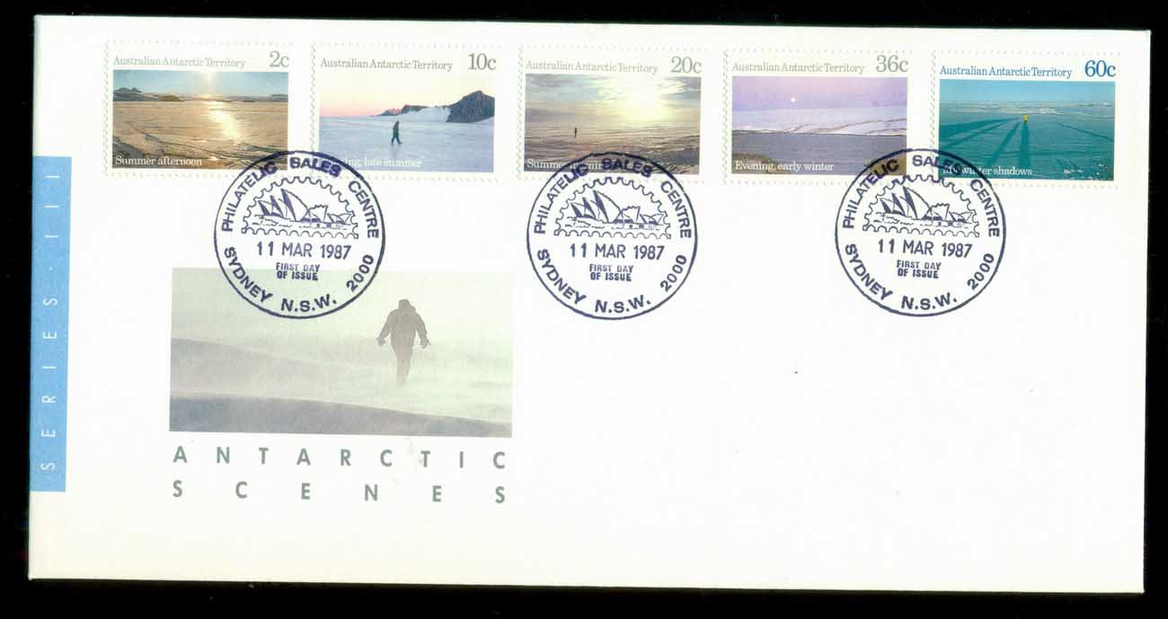AAT 1987 Antarctic Scenes, Sydney Philatelic FDC lot79854