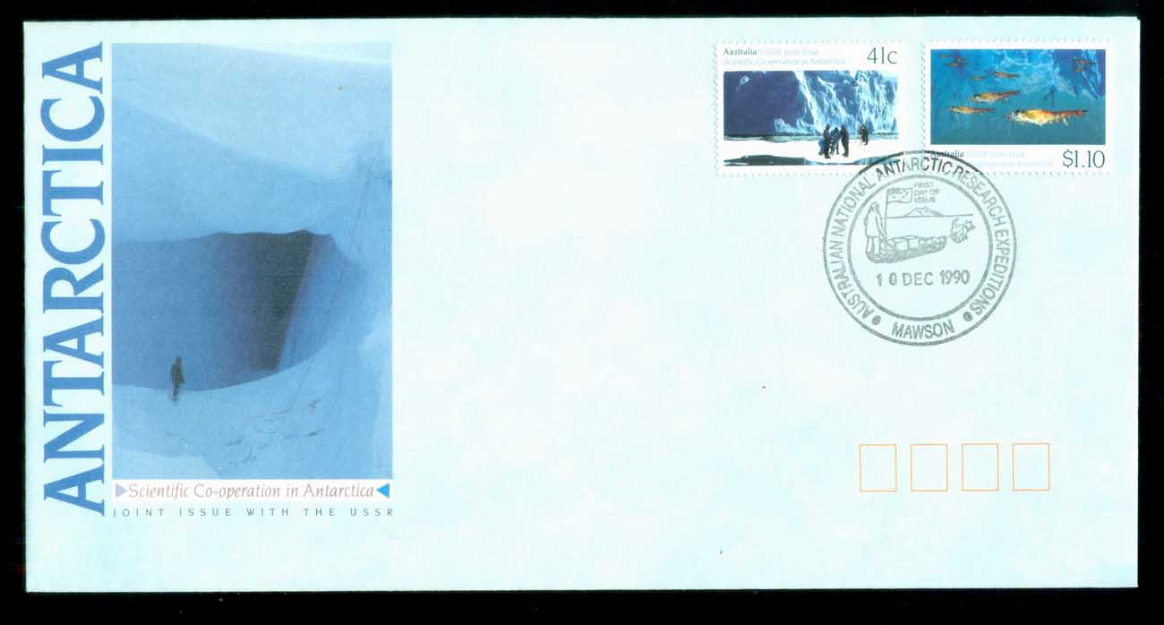 AAT 1990 Scientific Co-operation in Antarctica, Mawson FDC lot79858