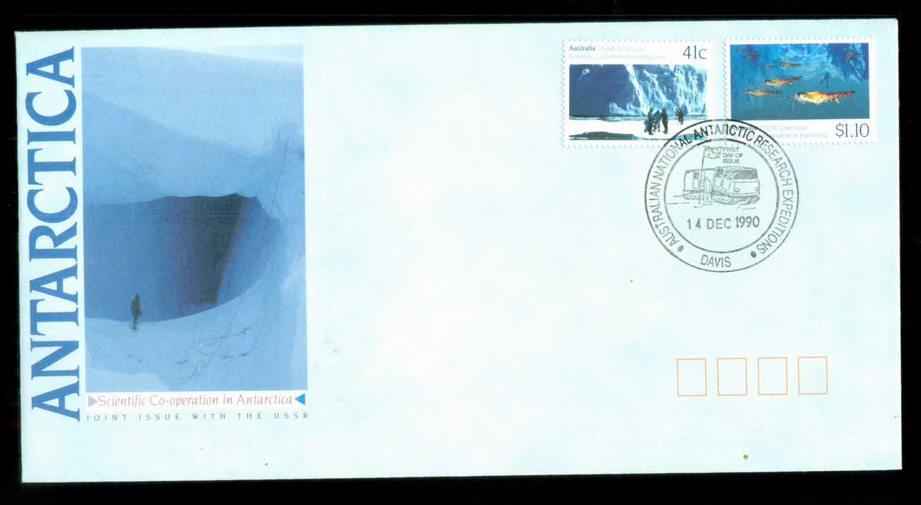 AAT 1990 Scientific Co-operation in Antarctica, Davis FDC lot79859