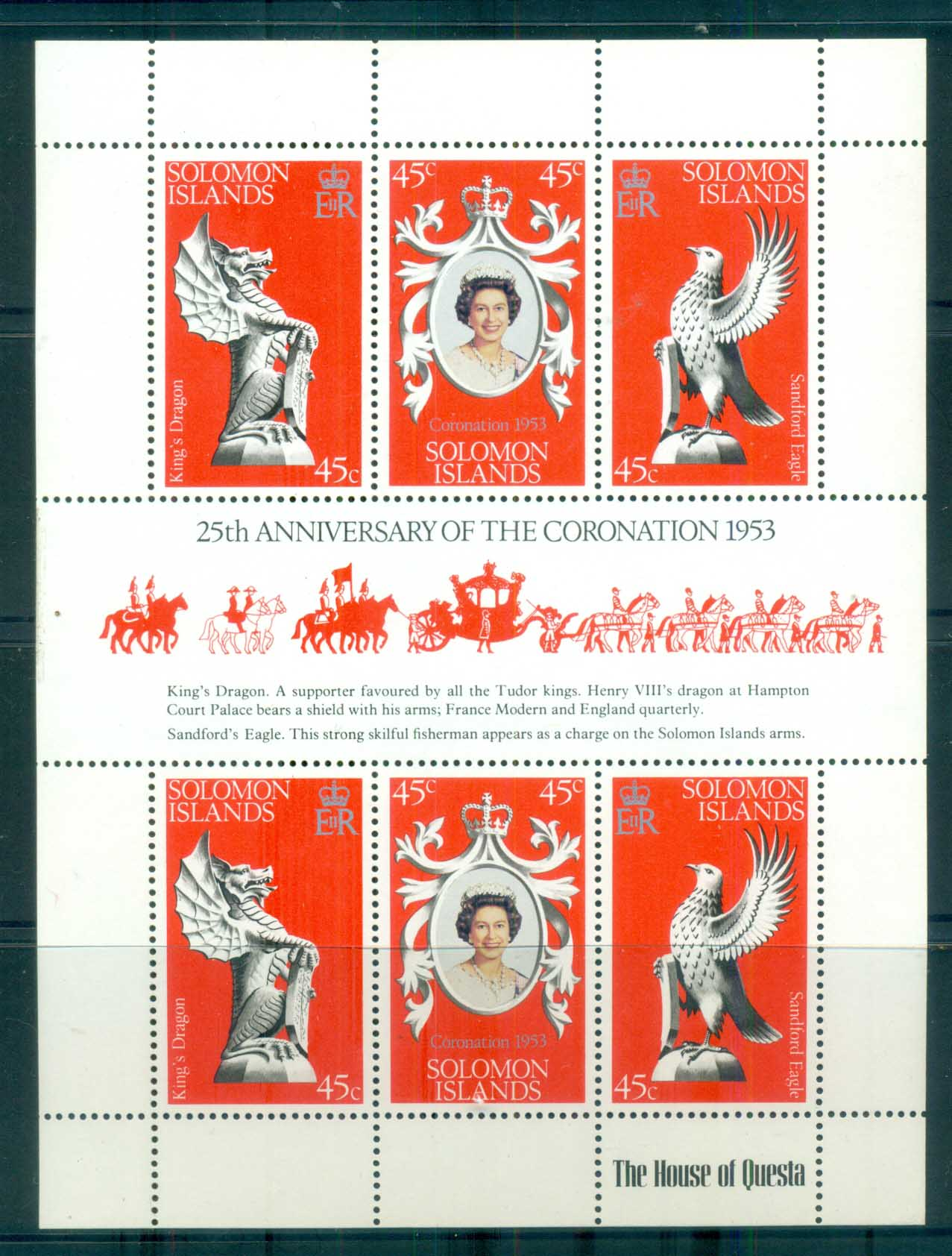 Solomon Is 1978 QEII Coronation Anniv MS MUH lot79941