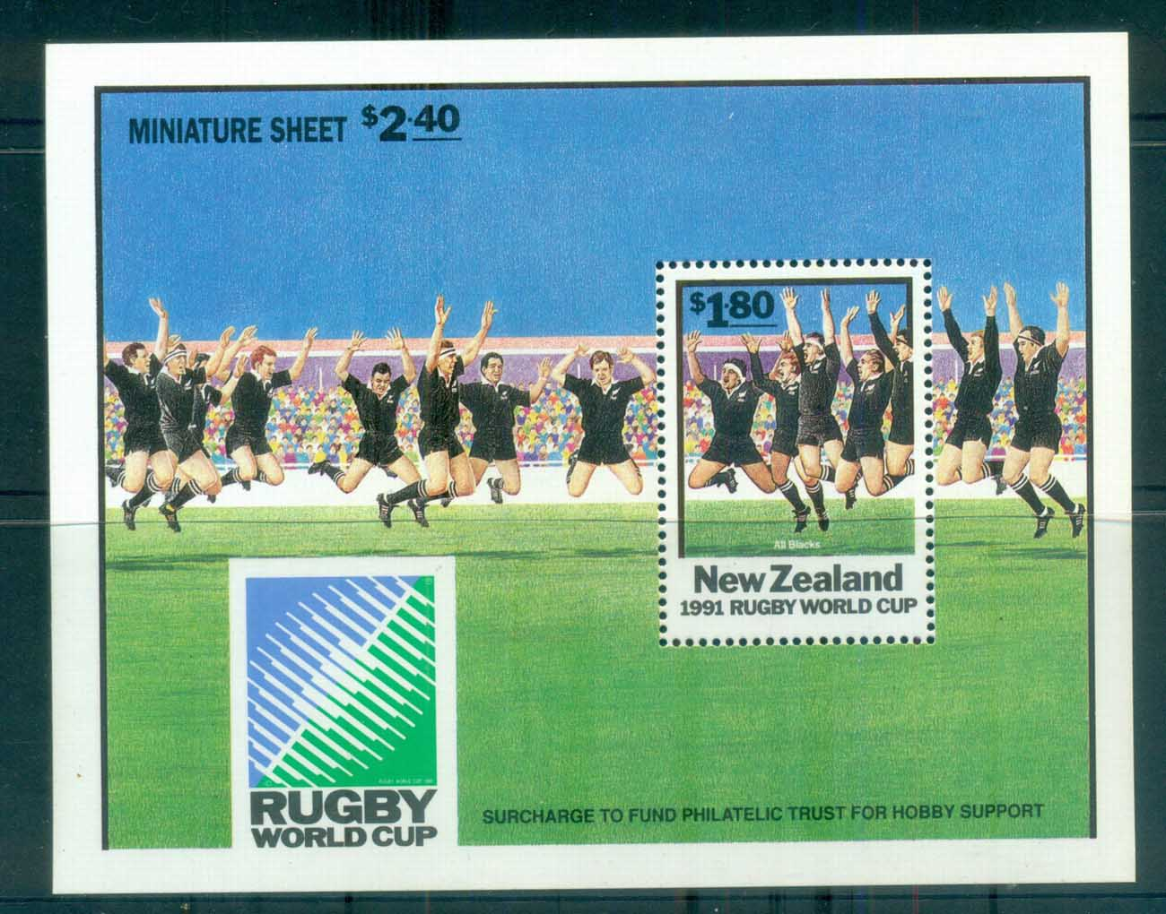 New Zealand 1991 Rugby All Blacks MS MUH lot80005