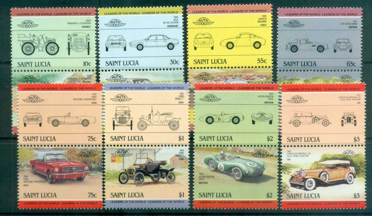 St Lucia 1984 LOW Cars pairs MUH lot80018