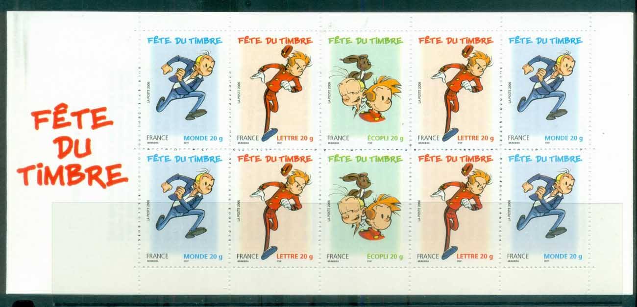 France 2006 Characters from Spirou, booklet MUH lot80141