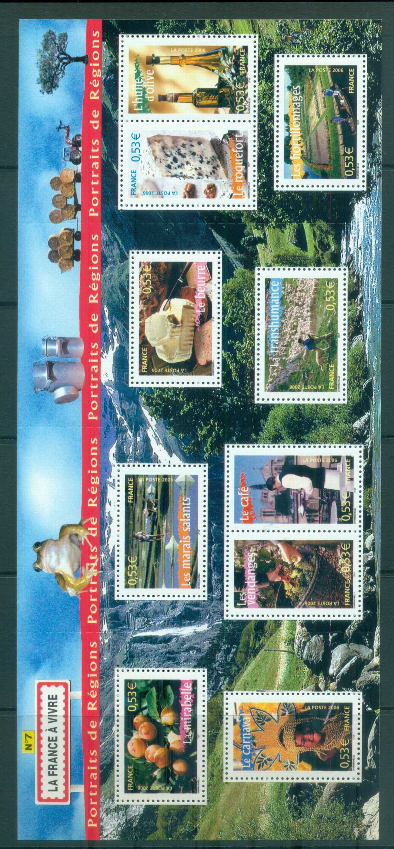 France 2006 Regions #7 MS MUH lot80149