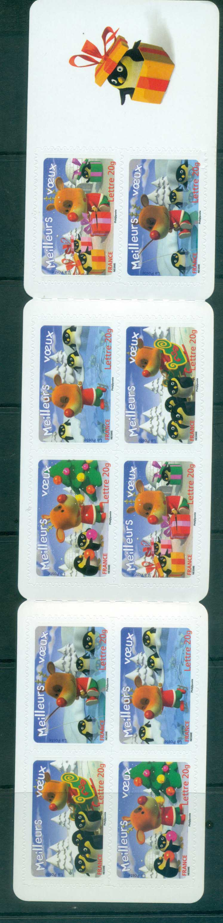 France 2006 Holiday Greetings booklet pane MUH lot80176