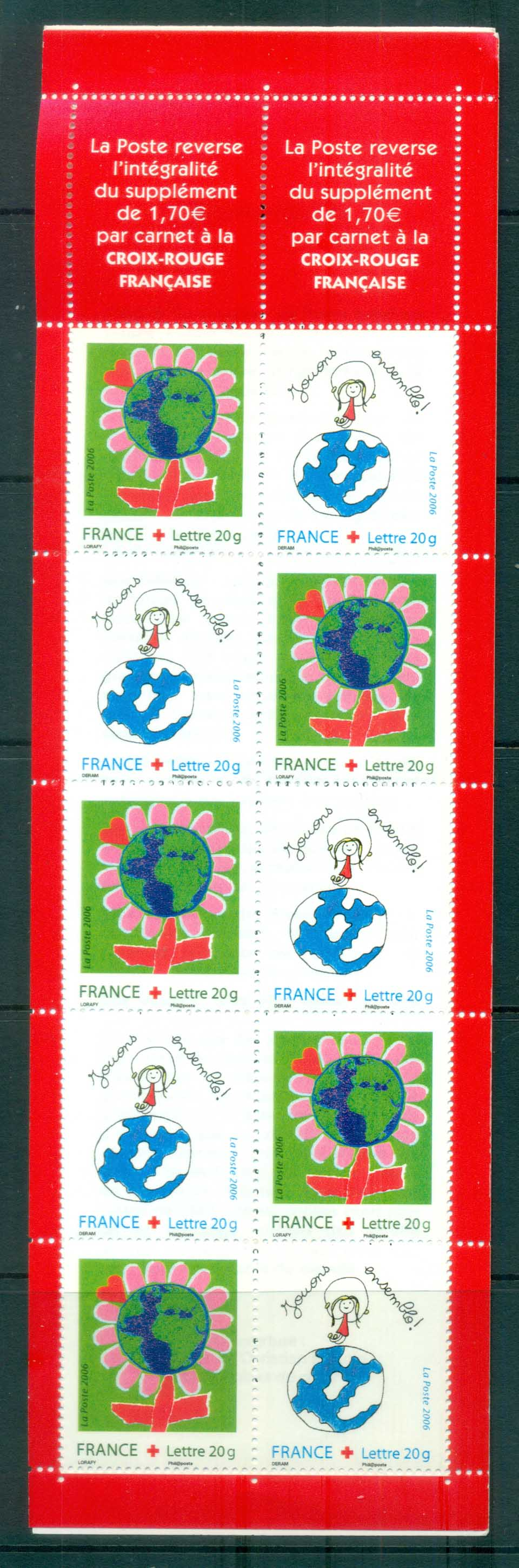 France 2006 Circus, Red Cross , Booklet MUH lot80185