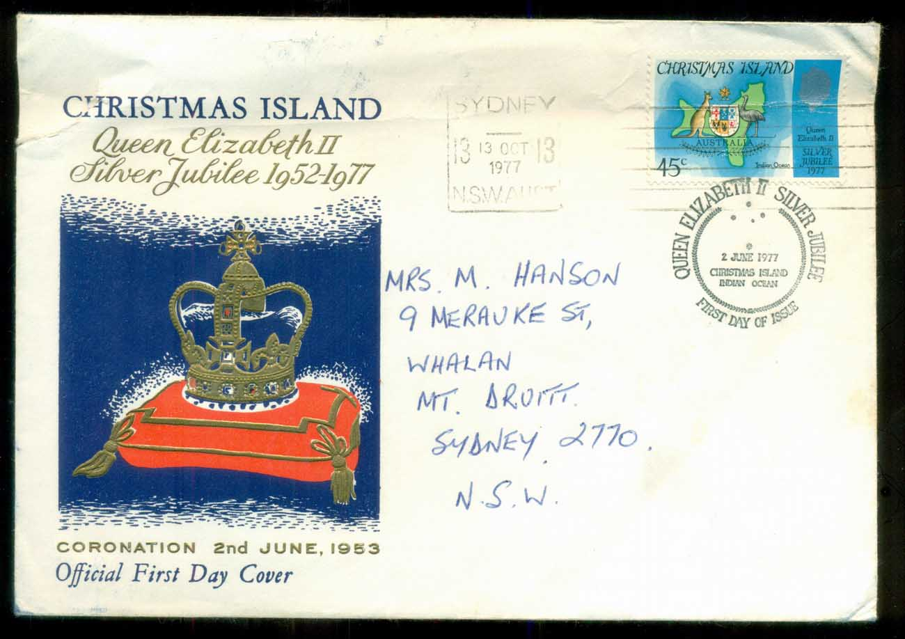 Christmas Is 1977 Silver Jubilee, addressed (creases) FDC lot80189