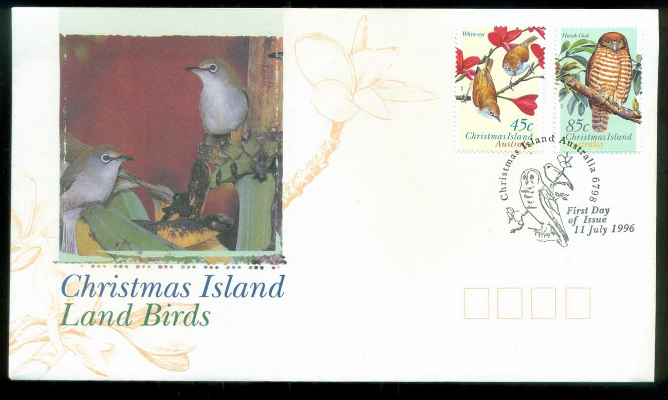 Christmas Is 1996 Land Birds FDC lot80199