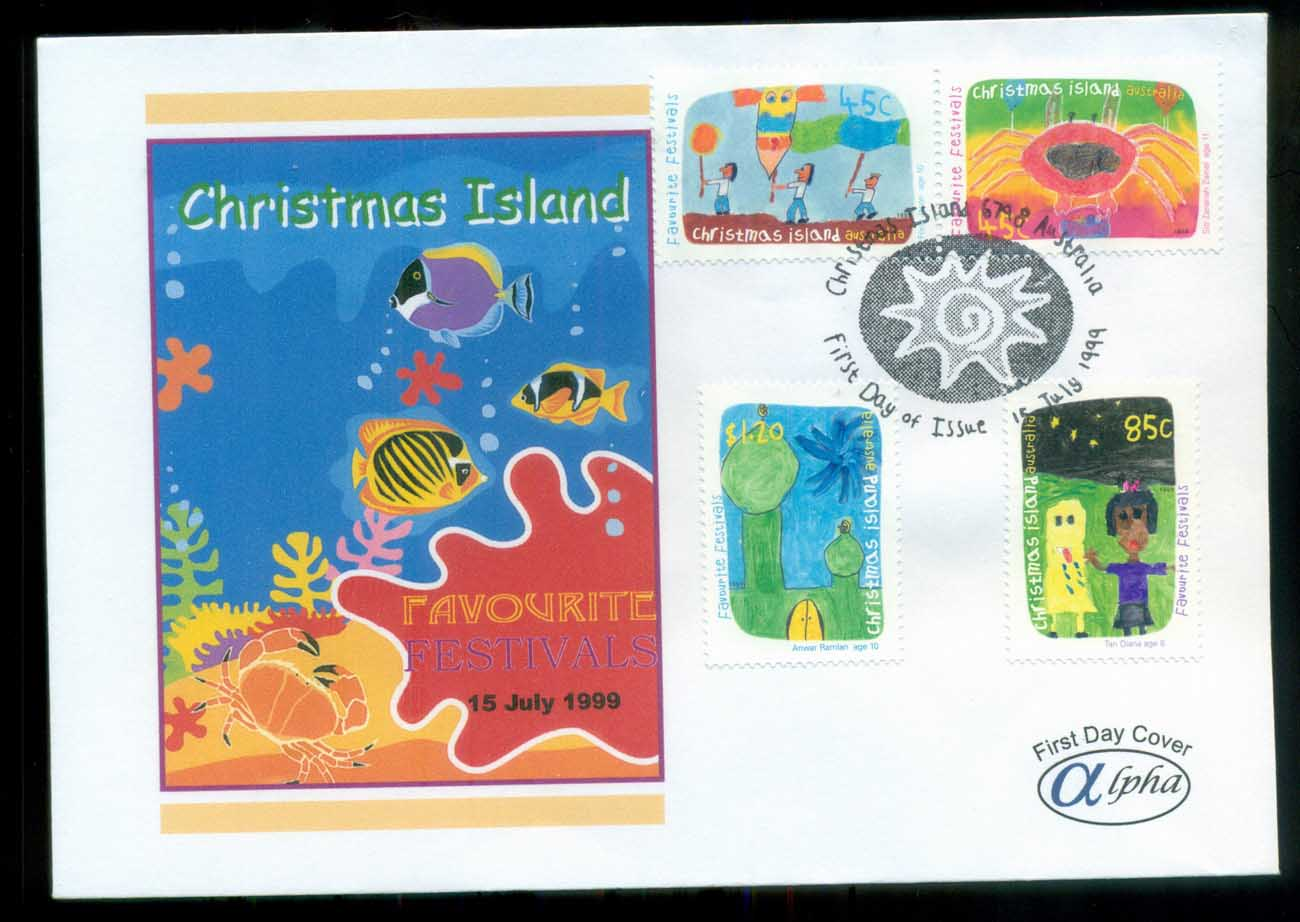 Christmas Is 1999 Favourite Festivals, Christmas Is, Alpha FDC lot80220