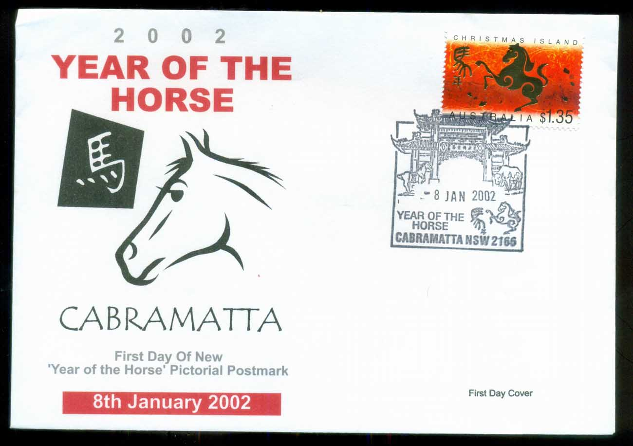 Christmas Is 2002 New Year of the Horse, $1.35, Cabramatta NSW. Alpha FDC lot80273
