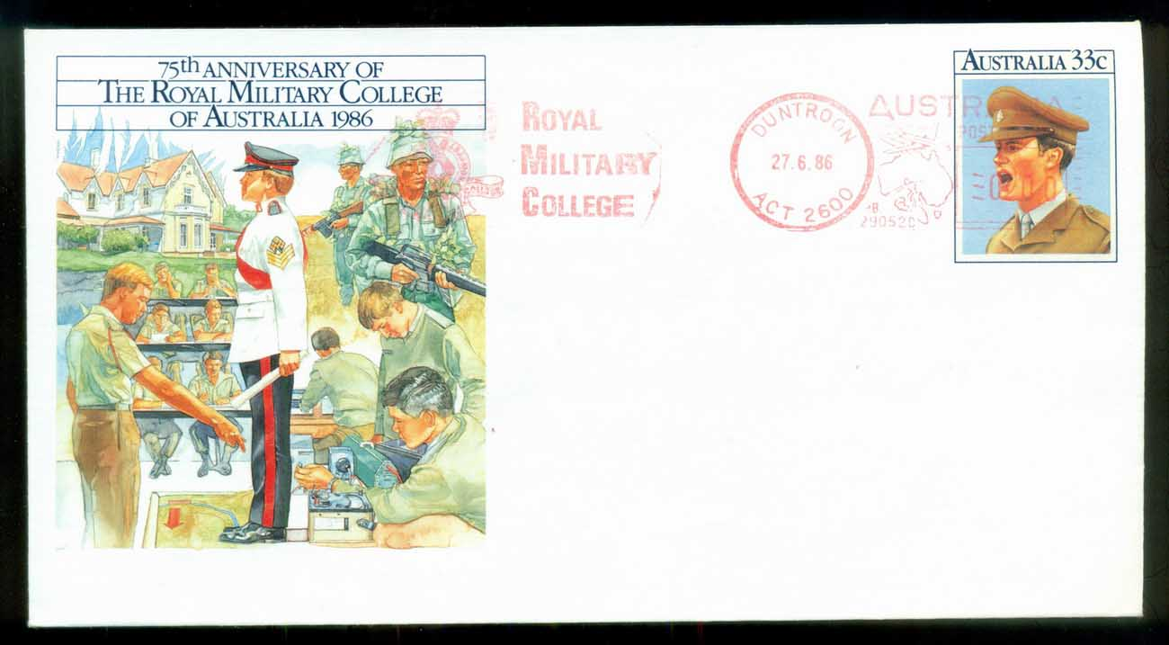 Australia 1986 RMC Military College, Duntroon ACT, PSE FU lot80332
