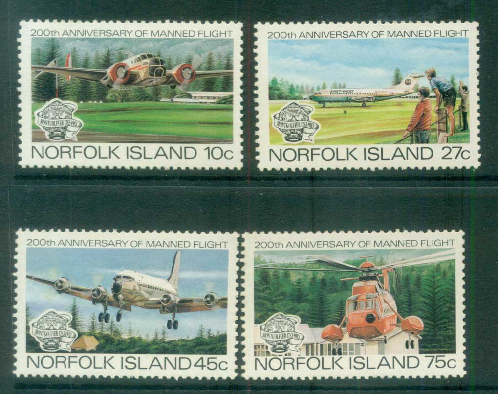Norfolk Is 1983 Manned Flight Bicentenary MUH lot80533