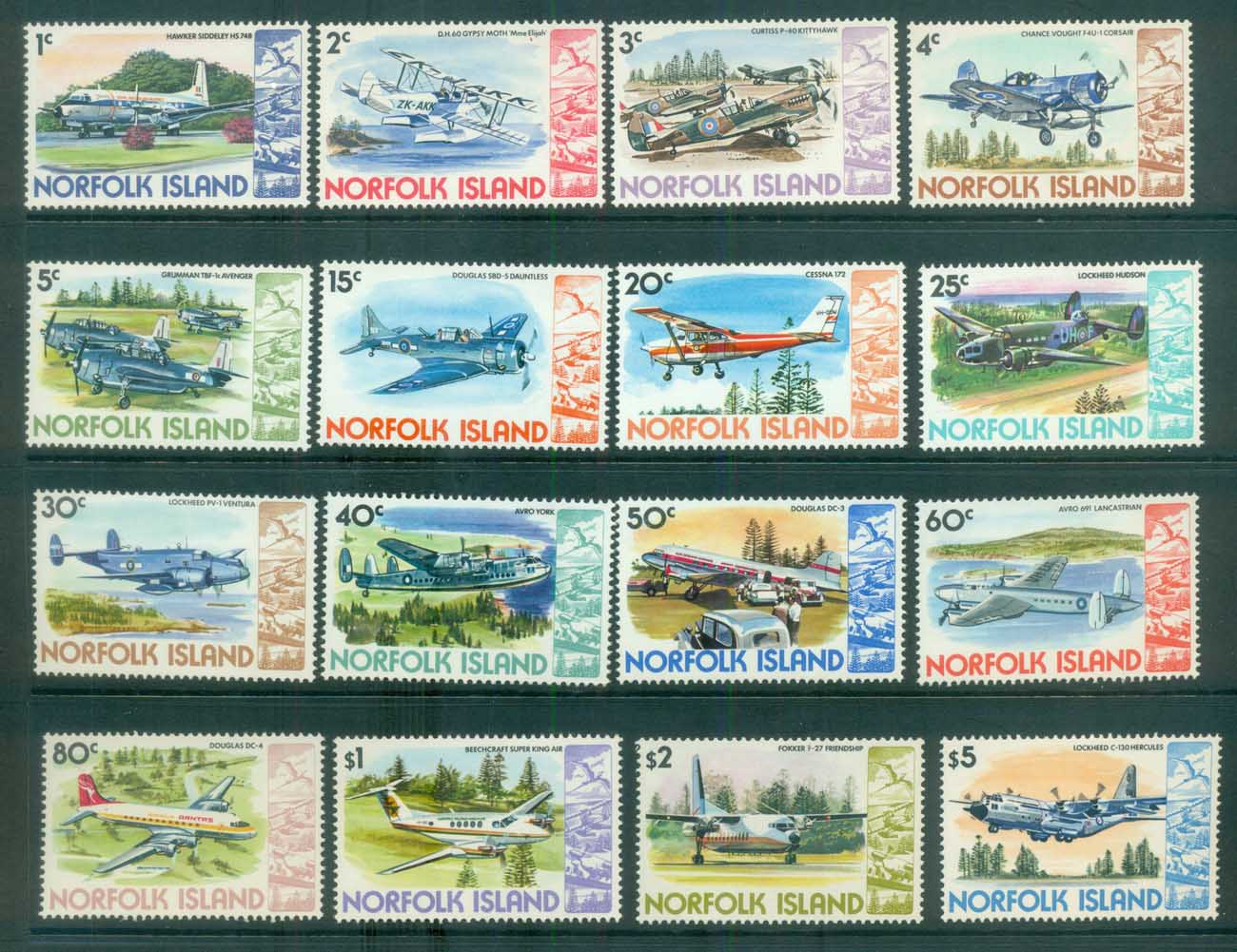 Norfolk Is 1980-81 Airplanes MUH lot80534
