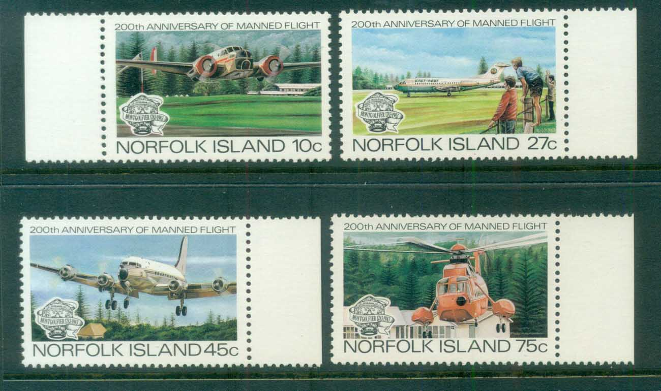 Norfolk Is 1983 Manned Flight Bicentenary MUH lot80539