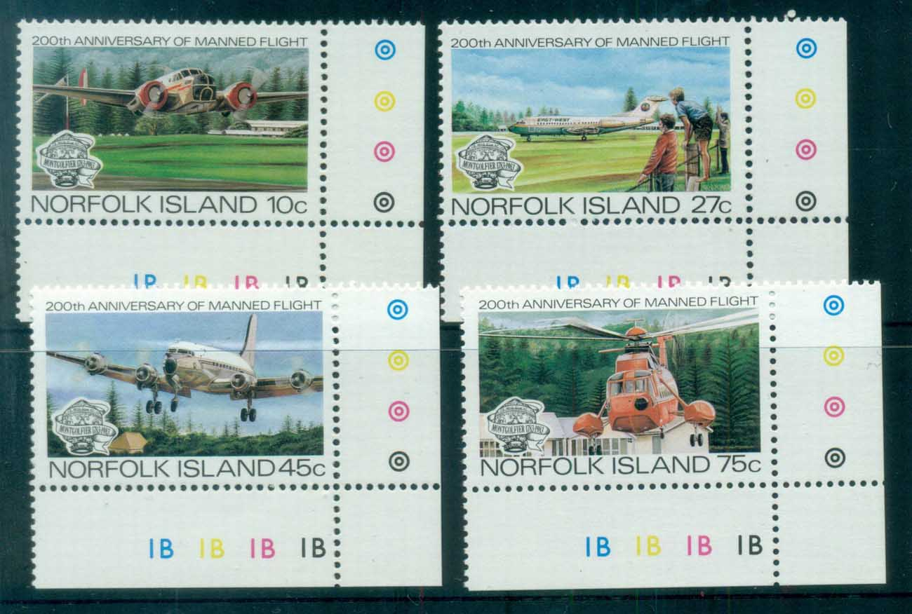 Norfolk Is 1983 Manned Flight Bicentenary MUH lot80589