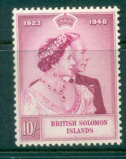 Solomon Is 1949 Silver Wedding 10/- MUH lot80744