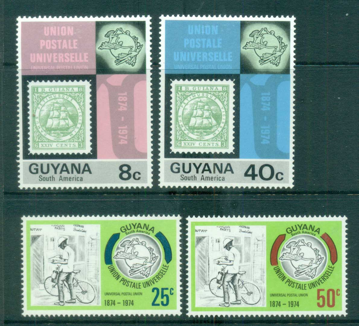 Guyana 1974 UPU Centenary MLH lot80910