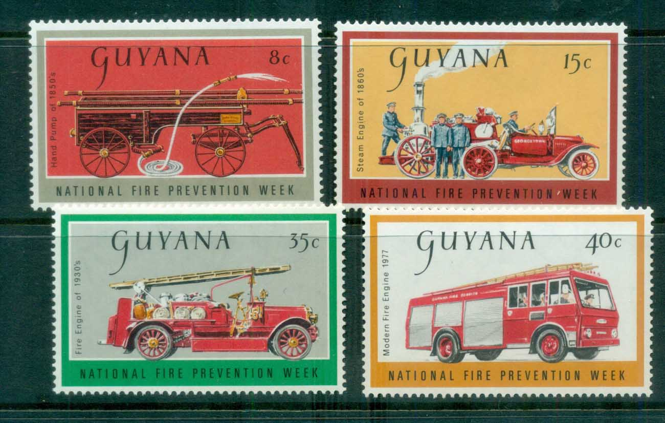 Guyana 1977 Fire Prevention Week MLH lot80914