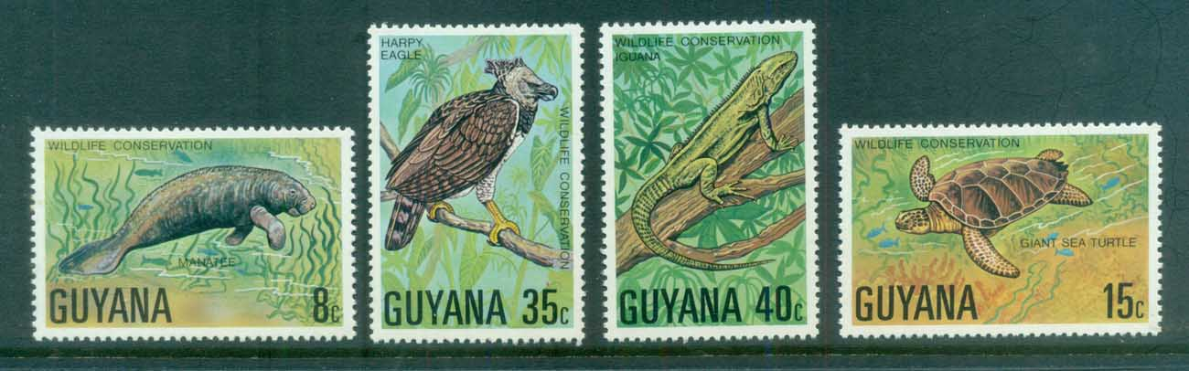 Guyana 1978 Wildlife Protection MLH lot80915