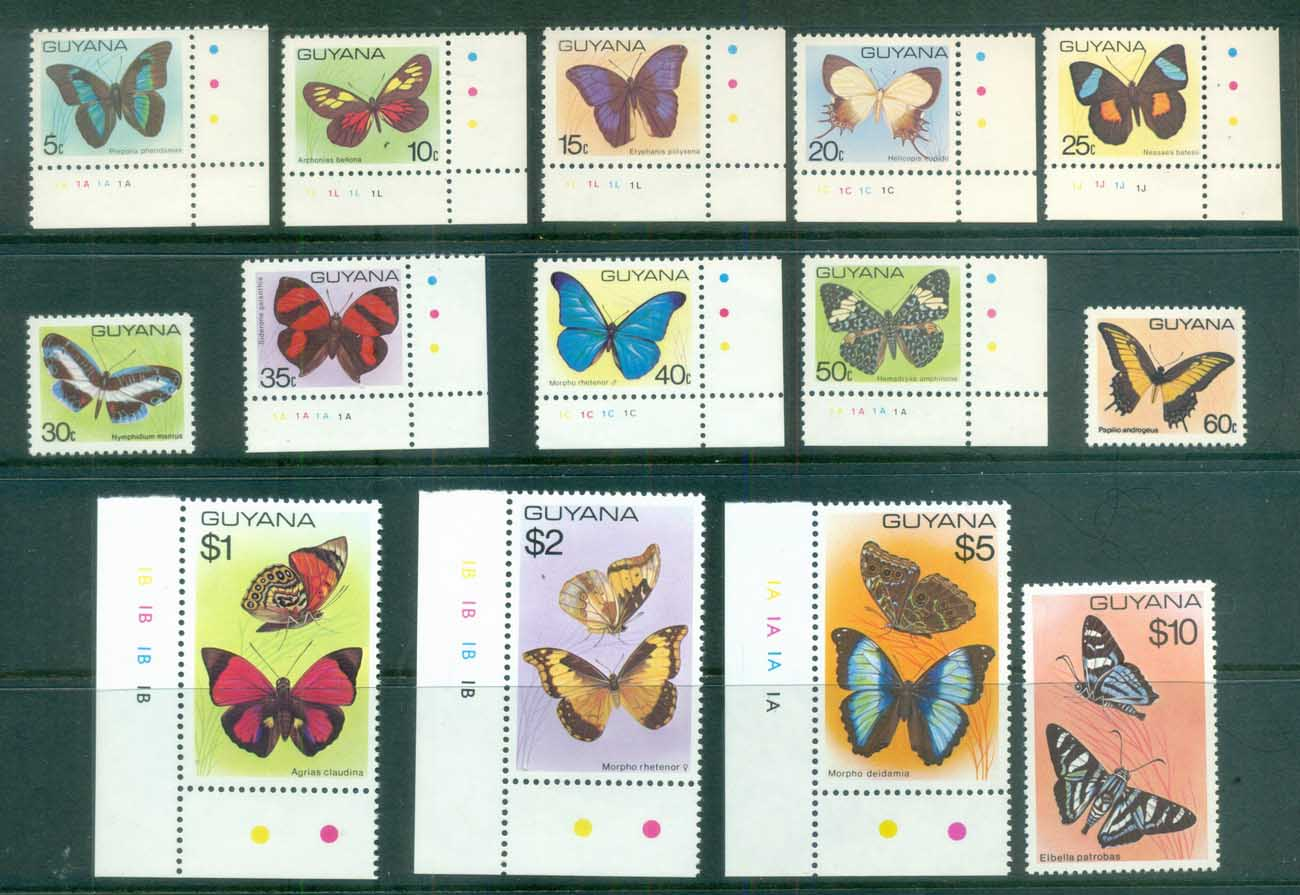 Guyana 1978-80 Butterflies MUH lot80918
