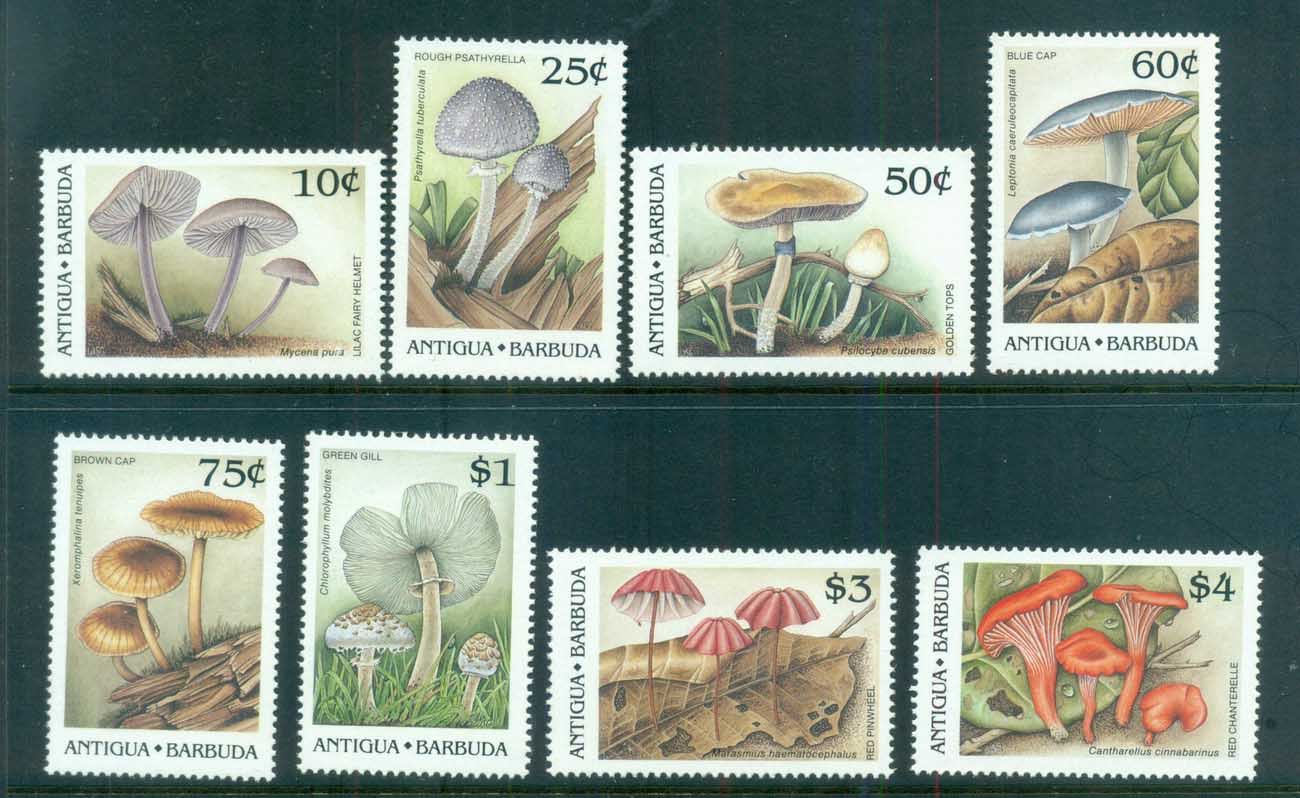 Antigua & Barbuda 1989 Mushrooms, Funghi MUH lot80975
