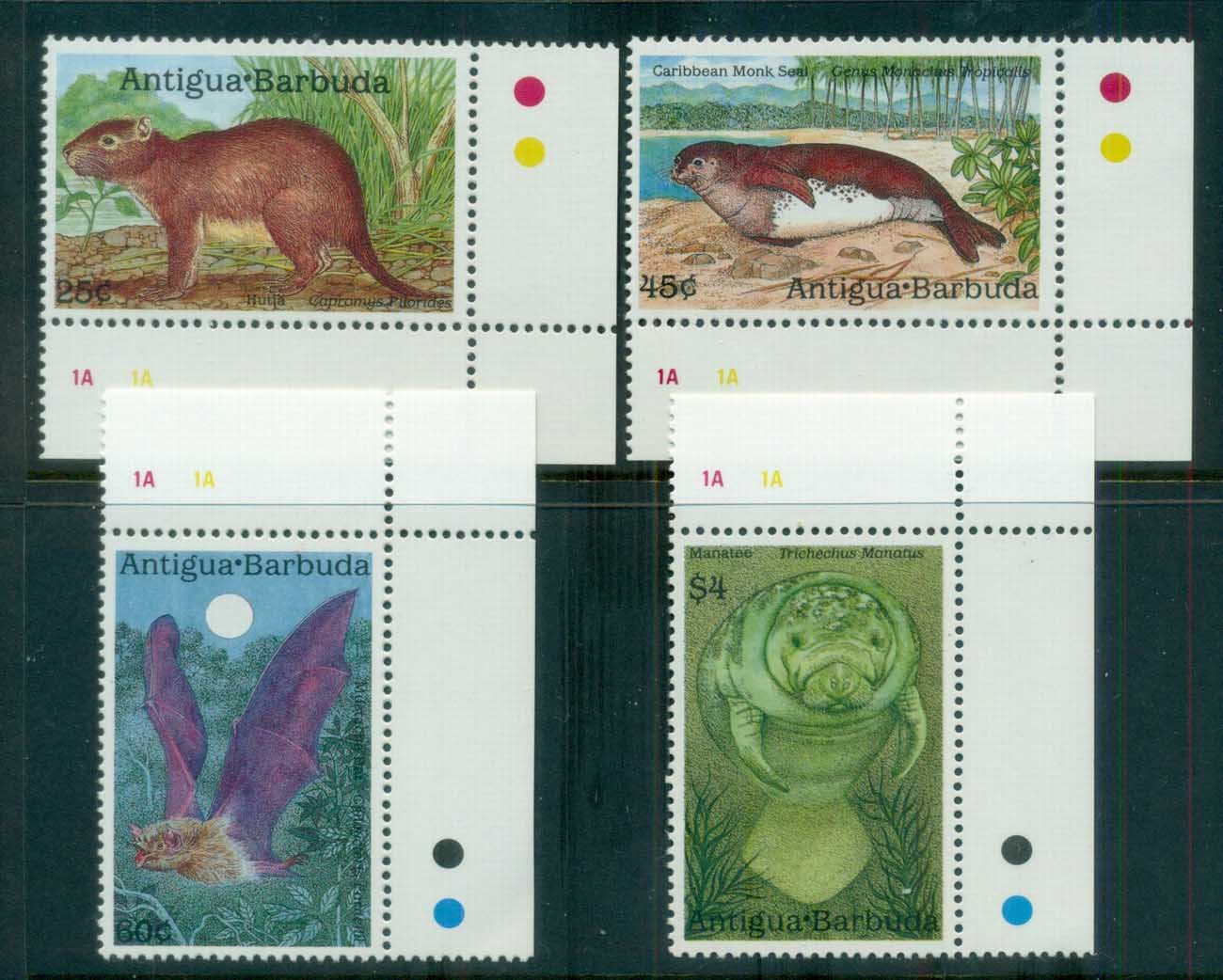 Antigua & Barbuda 1989 Wildlife MUH lot80976
