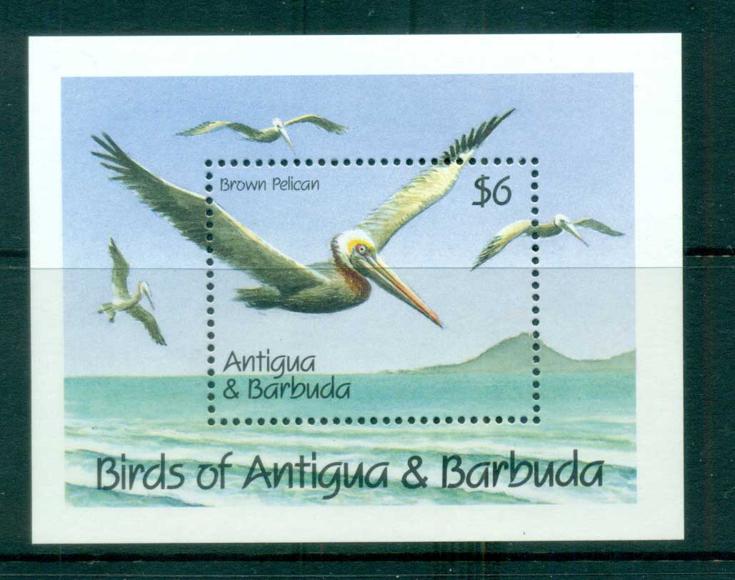 Antigua & Barbuda 1990 Birds, Brown Pelican MS MUH lot80984