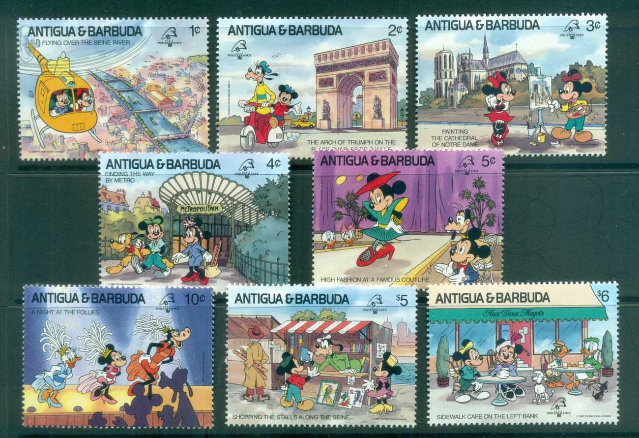 Antigua & Barbuda 1989 Disney, Animated Characters Philex France MUH lot81004