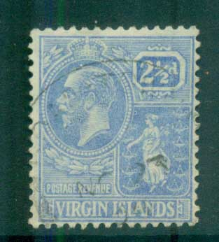 Virgin Is 1922-28 KGV Colony Seal 2.5d ultra FU lot81083