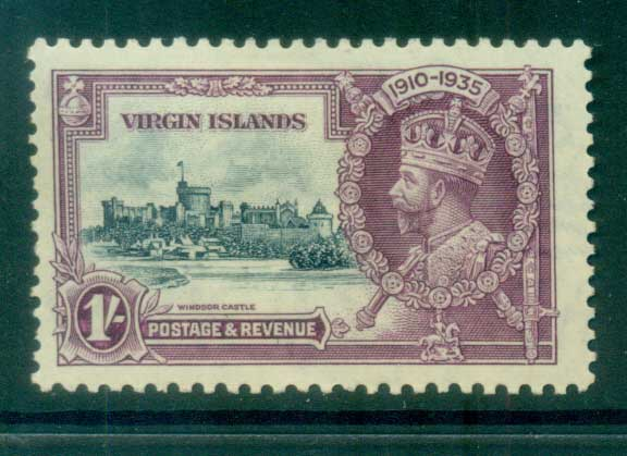 Virgin Is 1935 Silver Jubilee 1/- MLH lot81084