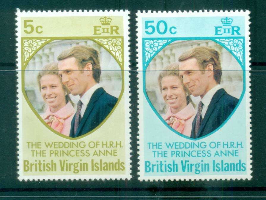 Virgin Is 1973 Royal Wedding Princess Anne MLH lot81102