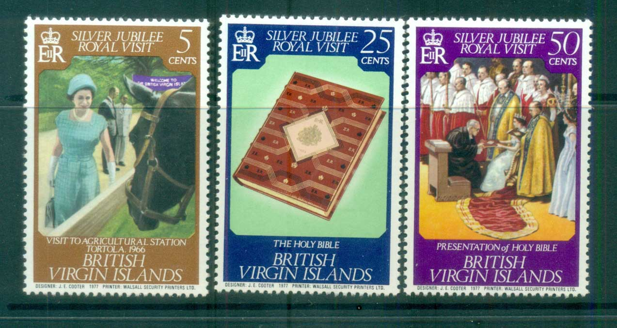 Virgin Is 1977 Royal Visit MLH lot81111