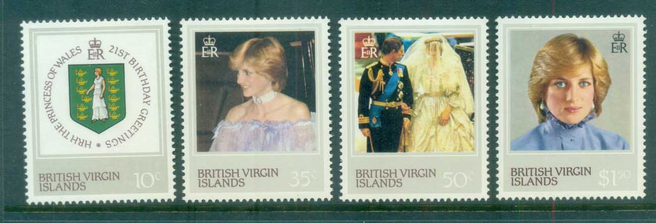 Virgin Is 1982 Princess Diana 21st Birthday MLH lot81129