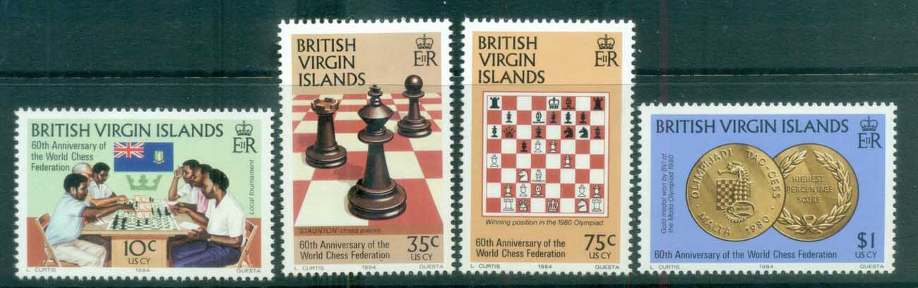 Virgin Is 1984 World Chess federation MLH lot81139