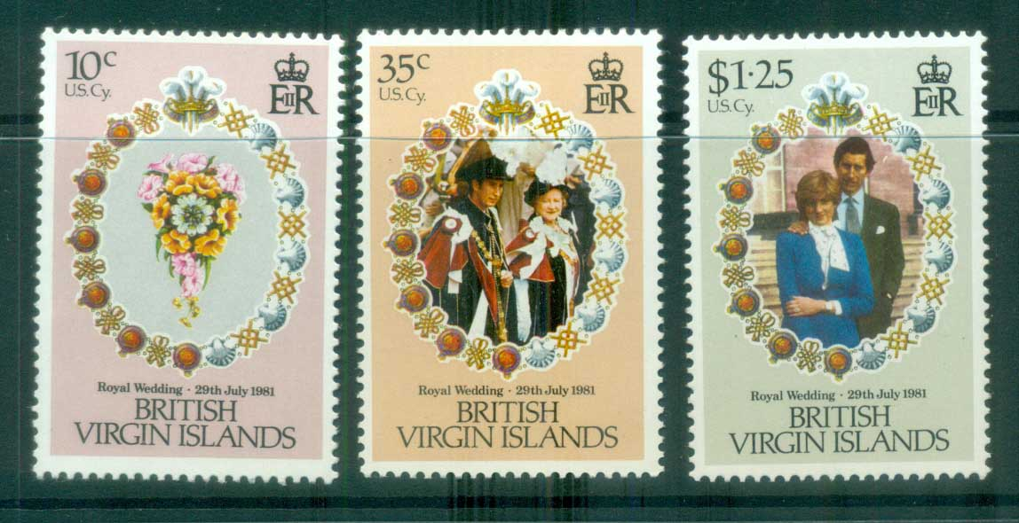 Virgin Is 1981 Royal Wedding, Charles & Diana MUH lot81182