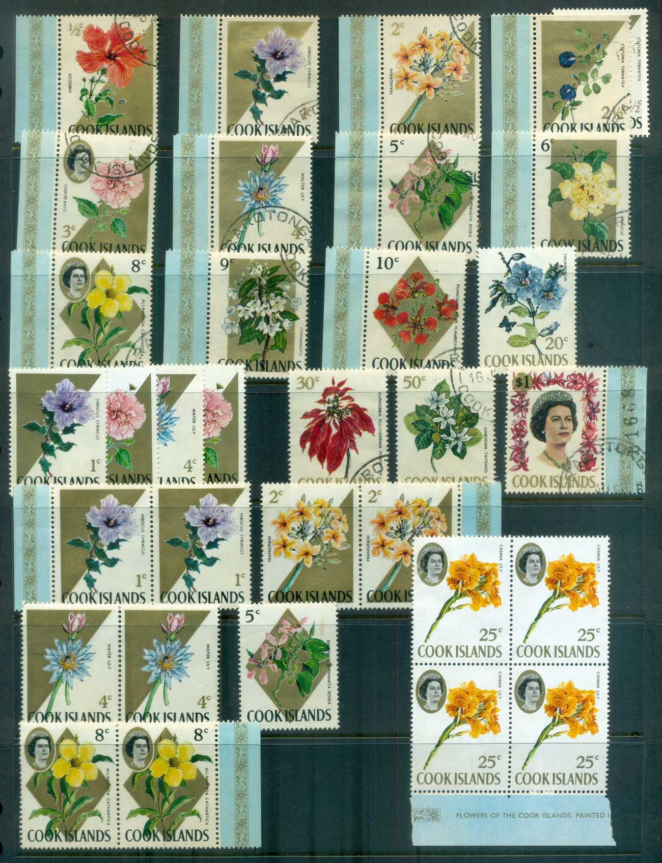 Cook Is 1967-69 Flowers Asst MUH/FU lot81325
