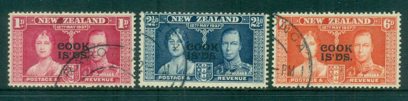 Cook Is 1937 Coronation FU lot81331