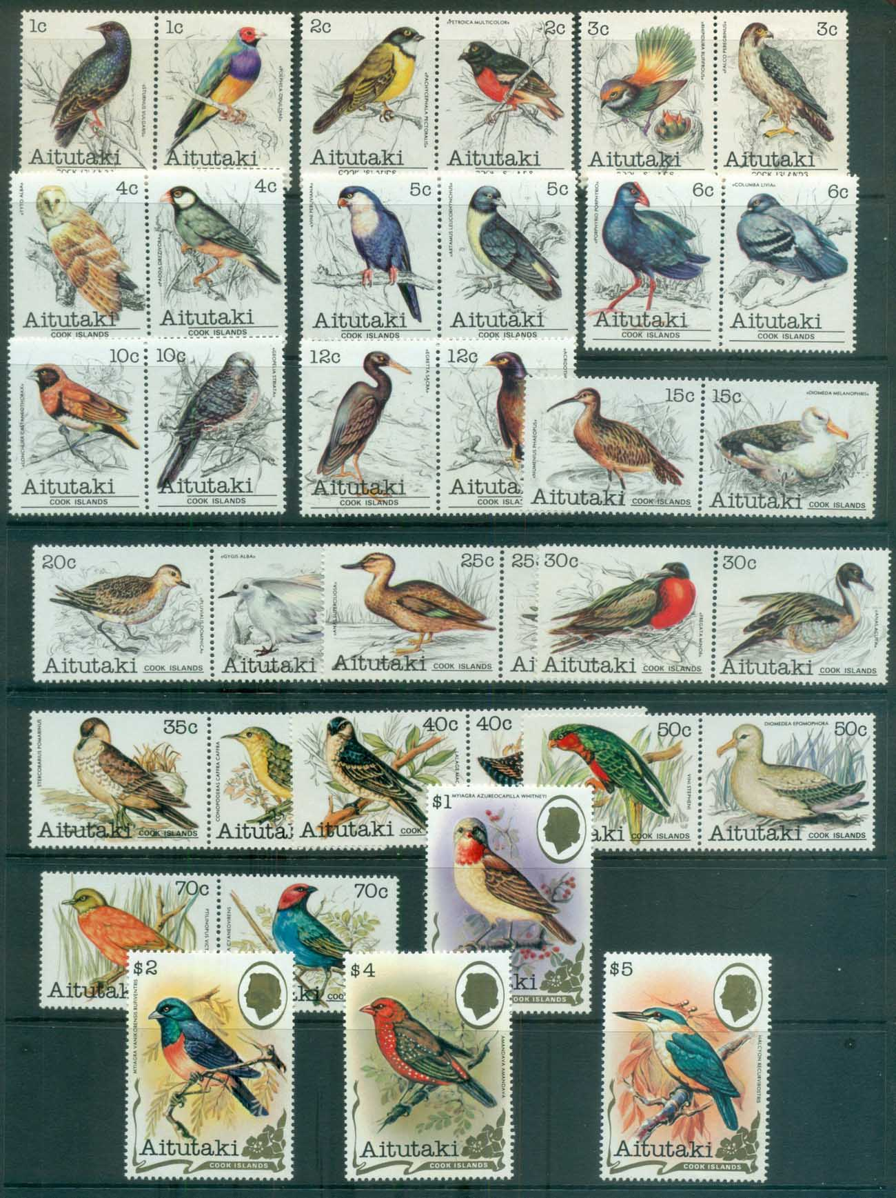 Aitutaki 1981 Birds (36) MUH lot81344