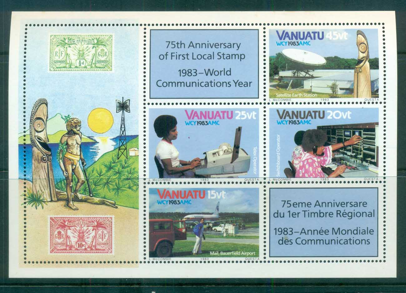 Vanuatu 1983 World Communications Year MS MUH lot81372