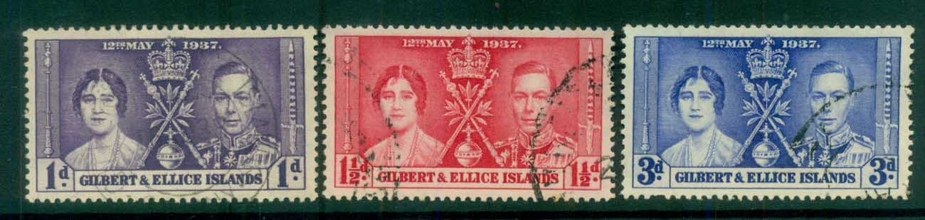 Gilbert & Ellice Is 1937 Coronation FU lot81423